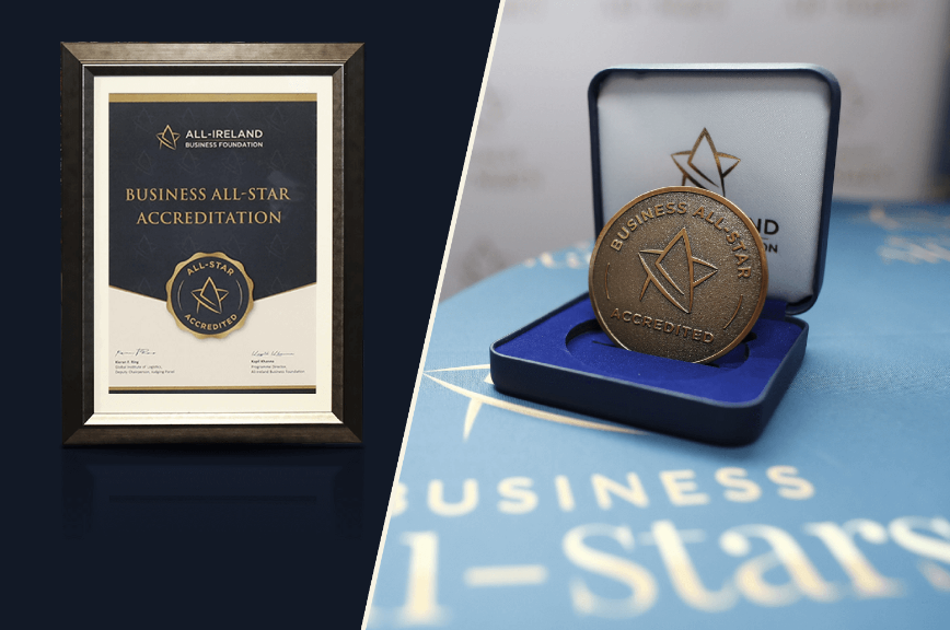 1st Opticians in Ireland to receive Business All-Star Accreditation.
